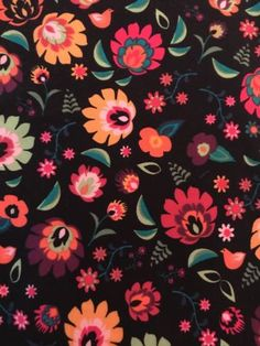 Cute pattern in small flower small pink flowers dark blue lularoe tc leggings black pink flowers birds floral roses fall nwot mightylinksfo