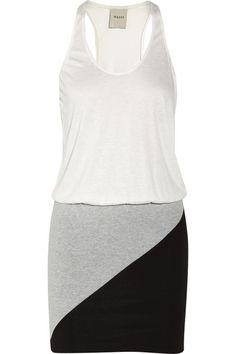 Mason by Michelle Mason Color-block jersey mini dress