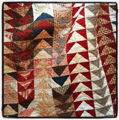 Petite Brocante pattern from French General using fabrics from upcoming Petite Prints line. Available late fall Cute Quilts, Old Quilts, Strip Quilts, Antique Quilts, Scrappy Quilts, Triangles, Quilt Corners, Flying Geese Quilt, Ideas