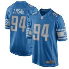 Ezekiel Ansah Detroit Lions Nike Youth 2017 Game Jersey - Blue