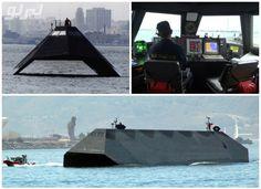 صور السفينة الأمريكية السرية..قادرة على التخفي وخداع الرادار!