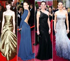 Hilary Swank March 26, 2000: Randolph Duke February 27, 2005: Guy Laroche February 24, 2008: Atelier Versace February 27, 2011: Gucci Premiere