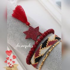 "102 mentions J'aime, 1 commentaires - Miyuki_Design (@dm_miyuki) sur Instagram : ""Happy weekend Red love #miyukibeads #miyukibileklik #miyuki #jewelry #tasarım #design…"" Beaded Bracelets, Beaded Brooch, Peyote Stitch, Brick Stitch, Happy Weekend, Bracelets For Men, Beads, Earrings, Bracelets"