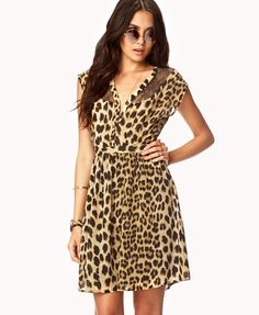 Leopard Print Georgette Dress from Picsity.com