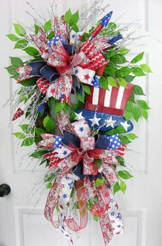 Rocketed Stars Patriotic Wreath