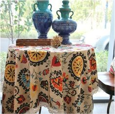 Free Shipping Sale 140x140cm Elegant Cotton and Linen Tablecloth Lace Table Linen Cloth Cover $887,22