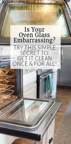 Best Spring Cleaning Ideas - Clean Oven Glass - Easy Cleaning Tips For Home - DIY Cleaning Hacks and Product Recipes - Tips and Tricks for Cleaning the Bathroom, Kitchen, Floors and Countertops - Cheap Solutions for A Clean House Household Cleaning Tips, Deep Cleaning Tips, House Cleaning Tips, Natural Cleaning Products, Cleaning Solutions, Oven Cleaning Hacks, Cleaning Supplies, Household Cleaners, Cleaning Baking Pans