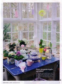 Spring party in the greenhouse. Styled by Peekaboo design. Photo Lene Nissen for Hendes Verden.