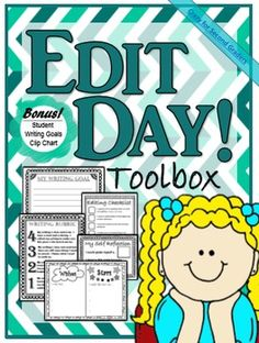 Editing day has always been a line-up of questions for me.  This pack is a fun and hands on way to get your students more involved with the editing process.  It's a compilation of small cut and glue tools that make for easy focus visuals for your little writers.