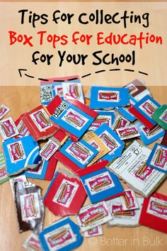 Tips For Collecting Box Tops for Education #FoodLionBoxTops #ad