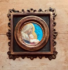 Excited to share this item from my #etsy shop: Blessed Mother and baby Jesus, religious art gift, Catholic art gift, folk art, recycled prayer card