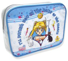 NEW official Sailor Moon cosmetic bag! Shopping links here --> http://www.moonkitty.net/reviews-buy-sailor-moon-bags-backpacks.php