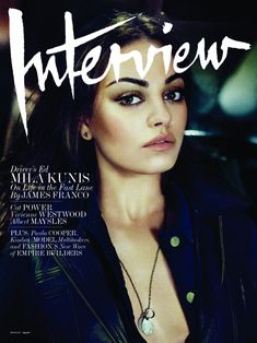 very sexy throughout the shoot, but the cover shot steals the show. beautiful face and makeup. -->Mila Kunis is Undeniably Cool for the August Cover of Interview by Craig McDean