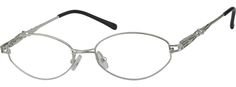 Women's Silver 4529 Metal Alloy Full-rim Frame With Spring Hinges | Zenni Optical Glasses-NPVc1Gsd