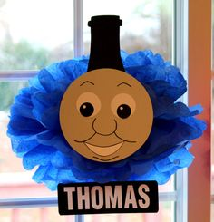 Inspired by Thomas the Train pom pom kit baby shower first birthday party decoration Winter Wonderland ONEderland