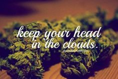 keep your head in the clouds...
