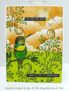 Alie Hoogenboezem-de Vries: Card with Designs by Ryn stamps
