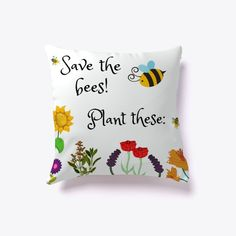 What do you think about this new pillow? Save The Bees, Throw Pillows, Plants, Cushions, Flora, Plant, Planting, Decorative Pillows, Decor Pillows