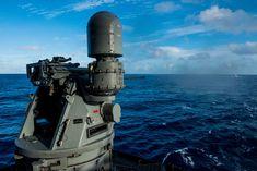 180713-N-OY799-0059 | PHILIPPINE SEA (July 13, 2018) An MK38… | Flickr Uss Ronald Reagan, Carrier Strike Group, Gun Turret, Mass Communication, American Standard, Aircraft Carrier, Weapon, Guns, Army