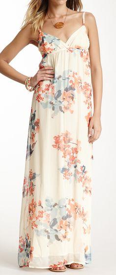 Silk floral maxi