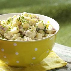 Honey-Dijon Potato Salad Recipe from Taste of Home -- shared by Kristie Kline Jones of Douglas, Wyoming
