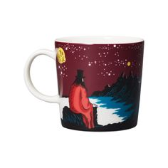 Arabia Moomin Hobgoblin & His Panther Ceramic Mug Cup. Moomin Books, Moomin Mugs, Yellow Mugs, Green Mugs, Moomin Shop, Black Bowl, Tove Jansson, Hobgoblin, Burke Decor