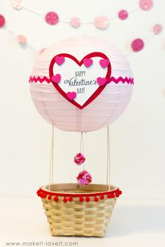 Hot Air Balloon and Rubik's Cube Valentine Boxes! - Hot Air Balloon and Rubik's Cube Valentine Boxes! My Funny Valentine, Valentine Box Unicorn, Valentine Boxes For School, Valentines Day Baskets, Homemade Valentines, Valentines For Kids, Valentine Day Crafts, Valentine Ideas, Printable Valentine
