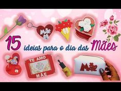 15 IDEIAS DE LEMBRANCINHAS PARA O DIA DAS MÃES - MOLDES GRÁTIS - YouTube Arts And Crafts, Xmas, Make It Yourself, Blog, Videos, Youtube, Spring Crafts For Kids, Mothers Day Crafts, Toddler Arts And Crafts