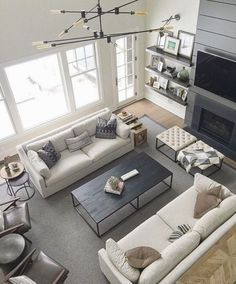 living room inspiration with modern industrial lamp