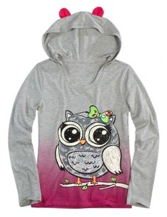 Justice Coats for Girls   Critter Hoodie   Girls Long Sleeve Tops & Tees   Shop Justice