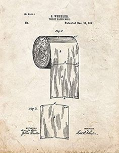 Another great find on zulily toilet paper roll 1891 blueprint art amazon toilet paper roll patent print art poster old look 85 malvernweather Gallery