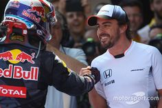 Congratulation from Fernando Alonso to Max Verstappen, because of his first victory in F1.