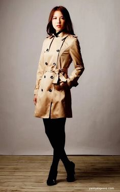 Korean Style Multi-way Two-piece Trench Coat