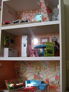 autre exemple étagère détournée en maison