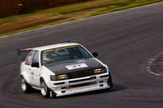 Light Speed Japan's N2 Class Cocaine White AE86 Levin Coupe.