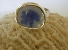 Broken China Ring Chaney Ring  Sterling Silver by MaroonedJewelry, $40.00