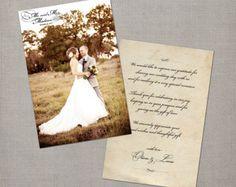 Vintage Wedding Thank You Cards / Wedding by NostalgicImprints