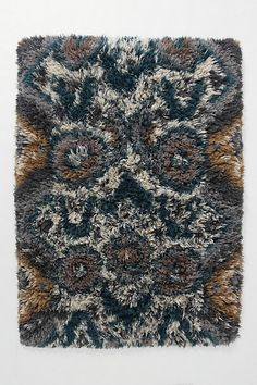 This is the one! Ikat shag rug, blue, gray, brown and cream...