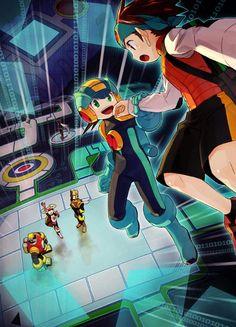 Rock Man artwork by Sakino (Sanodon). Mega Man, Akira, Videogames, Megaman Series, Fighting Robots, Fanart, Marvel Vs, Super Smash Bros, Wallpaper