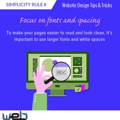 In order to make your pages easier to read, use larger fonts and white spaces. https://www.websolutioncentre.com/