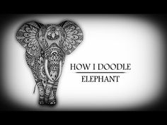 How I Doodle - Elephant Speed Drawing - YouTube