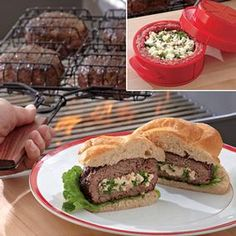 Stuff-A-Burger™ ~ Ordering this for Hubs so he can make me tasty burgers!