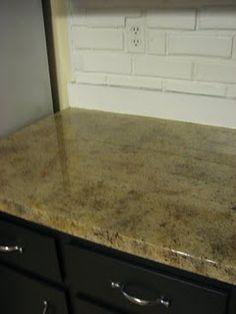 DIY faux granite countertops