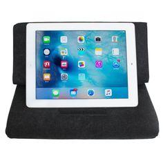 iPad Pillow Stand, Skiva EasyStand Pad Pillow Stand for iPad Pro Air mini, iPad 4 3 2 1, Samsung Galaxy Tab Note 10.1, Google Nexus 7, Microsoft Surface Pro, Tablets, E-readers (Black) [Model:ES101]