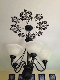 Neat idea above the chandelier