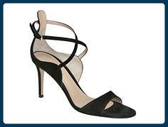 Gianvito Rossi high Heel Sandalen in schwarzem Veloursleder - Modellnummer: G60609.85RIC.CAMNERO - Größe: 40 EU - Sandalen für frauen (*Partner-Link)