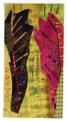 Pink Leaf 5 by Pat Pauly | Quilting Arts Magazine August/September 2015