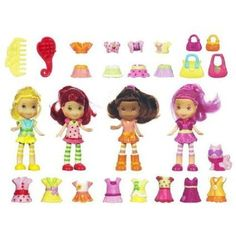 Help STRAWBERRY SHORTCAKEÂTM and her berry sweet-smelling friends including CustardÂTM the catget dressed for some fashion-filled adventures!STRAWBERRY SHORTCAKEÂTM and all her friends love to dress up, and you get 4 doll friends and a big wardrobe to dress them in with the STRAWBERRY SHORTCAKE P... more details available at https://perfect-gifts.bestselleroutlets.com/gifts-for-holidays/toys-games/product-review-for-strawberry-shortcake-mini-doll-collection/