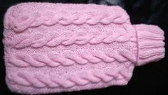 Free! - Knitted hot water bottle cover
