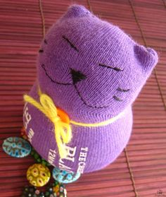 Kitty Sewing Patterns | Guest Tutor: Sewing Sock Kitty {Tutorial} | Free Pattern & Tutorial